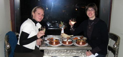 Celebrating in style at Sue's Indian Restaurant, Vilnius